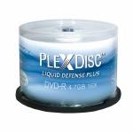 PlexDisc Water Resistant Inkjet DVD-R, 600 per Box