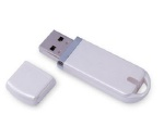 B-Stock 8GB USB Flash Drive, Silver or White