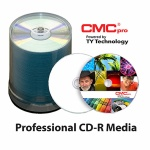 CMC Pro High Gloss White Inkjet CD-R, 600 per Box