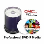 CMC Pro Silver Thermal Lacquer 16X DVD-R, Hardcoat, 600 Count Box