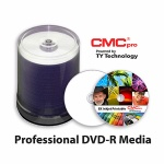 CMC Pro Archival Grade 16X DVD-R, Gold/Silver Alloy, White Inkjet, 600 Count Box