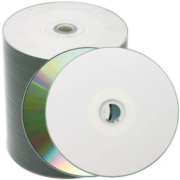 picture about Blank Printable Cds identified as Spin-X White Inkjet Hub Printable CD-R, 500 for every Box