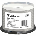 Verbatim DataLifePlus White Wide Thermal Hub Printable DVD+R DL, 200 per Box