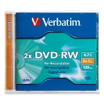 Verbatim 2X DVD-RW, Jewel Case, 50 per Box