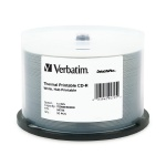 Verbatim DataLifePlus White Thermal Hub Printable 52X CD-R, 200 per Box