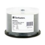 Verbatim 8X White Inkjet DVD+R, Hub Printable, 200 per Box