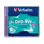 Verbatim 4X DVD-RW, Jewel Case, 10 per Box