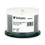Verbatim 8X White Thermal DVD+R, Hub Printable, 200 per Box