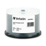 Verbatim DataLifePlus White Inkjet Printable 52X CD-R, 200 per Box