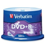 Verbatim 16X DVD+R, Silver Thermal Lacquer, Branded, 200 per Box