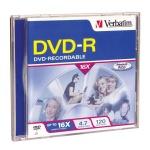 Verbatim 16X DVD-R, Jewel Case, 50 per Box