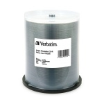 Verbatim White Inkjet Hub Printable 52X CD-R, 400 per Box