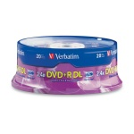 Verbatim 2.4-6X DVD+R DL Dual Layer Recordable Media