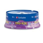 Verbatim 8X DVD+R Dual Layer, 15-Disc Spindle, 90 per Box