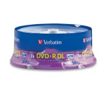 Verbatim 8X DVD+R Dual Layer, 30-Disc Spindle, 120 per Box