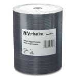 Verbatim White Inkjet 16X DVD-R, Hub Printable, 600 Count Box