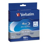 Verbatim 50GB BD-R, Dual Layer, 6x, 60 per Carton