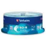 Verbatim 25GB BD-R, 6X, Branded, 150 per Box