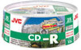 JVC Photo Grade CD-R, 52X, White Inkjet Printable, Water Resistant, 25-Disc Spindles, Branded, QTY 300