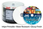 JVC Taiyo Yuden 52X CD-R, WaterShield, Silver Inkjet, 300 Count Box