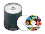 JVC Taiyo Yuden White Thermal Printable CD-R, (Prism, Aurora, Inscripta Only), 600 Count Box