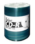 Valueline 52x CD-R, White Inkjet, Hub Printable, 600 Count Box