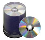 JVC Taiyo Yuden 52X CD-R, Silver Thermal Lacquer, Hub Printable, 600 Count Box