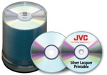 JVC Taiyo Yuden Silver Thermal Lacquer CD-R, 100 per Box