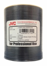 JVC High Gloss White Inkjet 8X DVD-R, 600 per Box