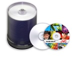 JVC Taiyo Yuden 8X DVD+R, Silver Inkjet Printable, 600 Count Box