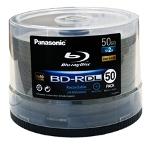 Panasonic 50GB Dual-Layer Blu-Ray Disc, 50-Disc Spindles, 200 Count Box