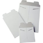 "White Tab Lock Mailer, 6""x8"", Narrow Opening, 100 per Box"