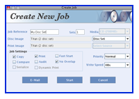 TrueNet FX Create New Job Dialog