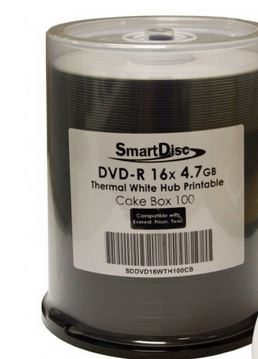 SmartDisc White Thermal Hub Printable CD-R, 600 per Box